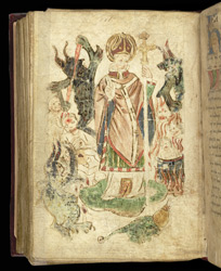 Miniature Of St. Patrick In Purgatory, In 'St. Patrick's Purgatory'